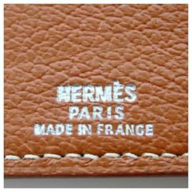 Hermès-Hermès Brown Leather Notebook Cover-Brown