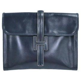Hermès-Hermes Jige-Navy blue