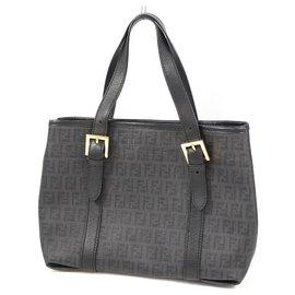 Fendi-FENDI Zucchino tote bag Womens handbag black-Black