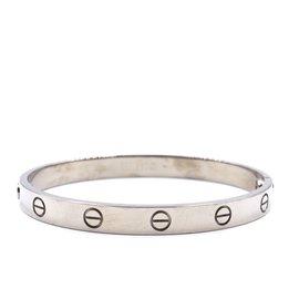 Cartier-cartier 18K 750 Bracelet d'amour avec taille de tournevis 17-Argenté
