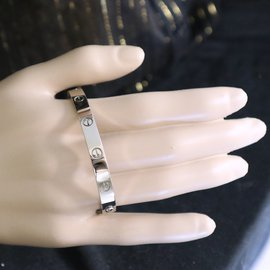 Cartier-cartier 18K 750 Love Bangle With Screw Driver Size 17-Silvery
