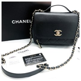 Chanel-Chanel black Business Affinity bag full caviar leather-Black