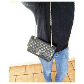 Chanel-Chanel handbag in Timeless Marine leather 25 cm-Navy blue,Dark blue