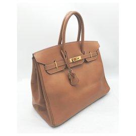 Hermès-Handbags-Light brown,Caramel