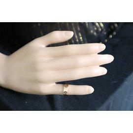 Cartier-cartier 18k Taille de la bague de mariage d'amour en or rose 47-Doré