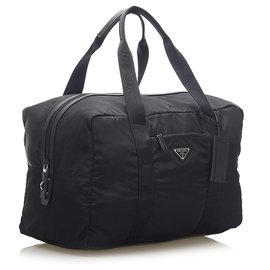 Prada-Prada Black Tessuto Travel Bag-Black