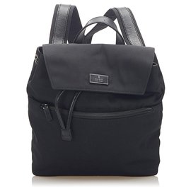 Gucci-Gucci Black Canvas Backpack-Black