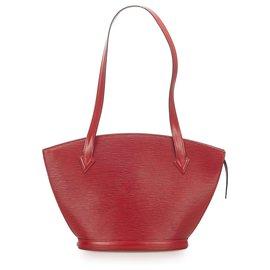Louis Vuitton-Louis Vuitton Red Epi Saint Jacques PM Long Strap-Red