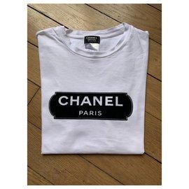 Chanel-Chanel T shirt-Black,White