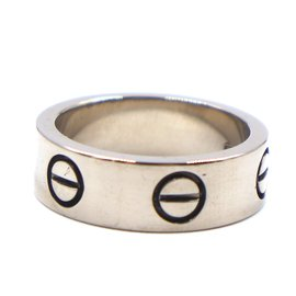 Cartier-Cartier White Gold 18K 750 Love Ring Size 48-Silvery