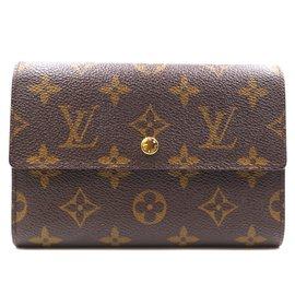 Louis Vuitton-Louis Vuitton Monogram Alexandra Trifold Long Wallet-Brown