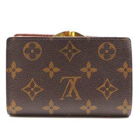 Louis Vuitton-Louis Vuitton Monogram French Kiss Lock Wallet-Brown