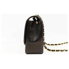 Chanel-Chanel Matelassé24.5 Diana Sac à bandoulière pour femme blackx matériel d'or-Autre