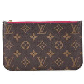 Louis Vuitton-Louis Vuitton Neverfull Pochette For PM Monogram Canvas-Brown