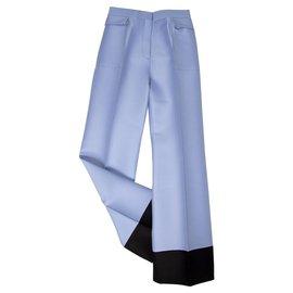 Céline-pantalon à jambe large tendance-Multicolore