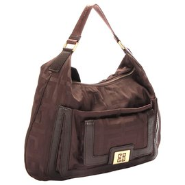 Givenchy-Givenchy Brown Nylon Shoulder Bag-Brown