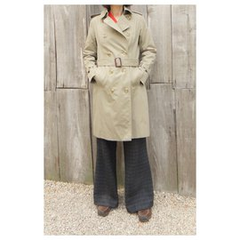 Burberry-womens Burberry vintage t trench coat 36-Khaki