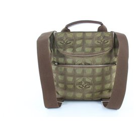 Chanel-Chanel Backpack New Line Khaki Convertible 3way Brown Canvas Backpack-Brown