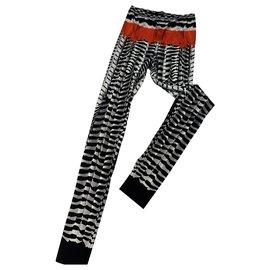 Alexander Mcqueen-Pants, leggings-Black,White,Red