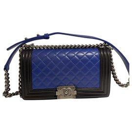 Chanel-chanel boy bag-Black,Blue