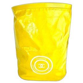 Chanel-XL Waterproof Yellow Bucket Large Hobo-Other