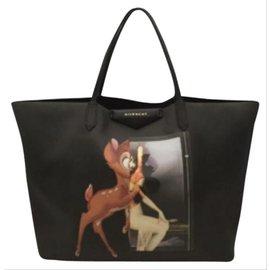 Givenchy-Bambi Antigona Large Tote Bag Black 6giv630-Other