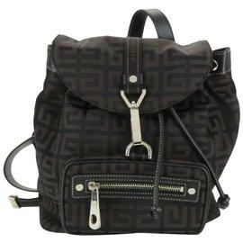 Givenchy-Monogram Logo Backpack-Brown