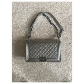 Chanel-Boy medium-Silver hardware