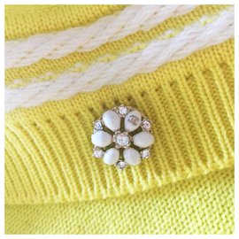 Chanel-Gripoix Buttons Cardigan-Yellow
