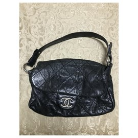 Chanel-Chanel Road flap bag-Black