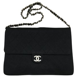 Chanel-Chanel jersey timeless-Black