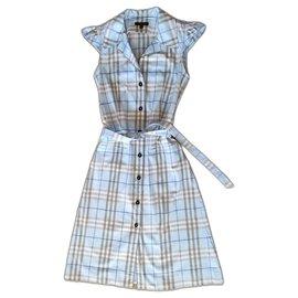 Burberry-Dresses-Light blue