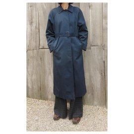 Burberry-Burberry woman raincoat vintage t 34 / 36-Navy blue