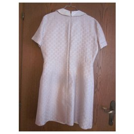 Gucci-Heritage GG dress-Beige