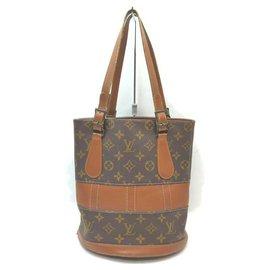 Louis Vuitton-French Co Monogram Marais Petite Bucket PM-Brown