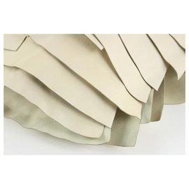 Saint Laurent-YSL Ivory Leather Large St. Tropez Hobo Bag-Other