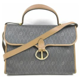 Dior-Christian Black Monogram Trotter 2way Top Handle Bag-Other