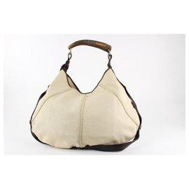 Saint Laurent-Ivory Mombasa Horn Hobo Bag-Other
