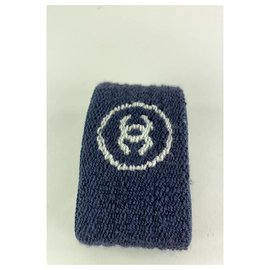 Chanel-Ultra Rare Blue CC Logo Wrist Band 7CC124-Other