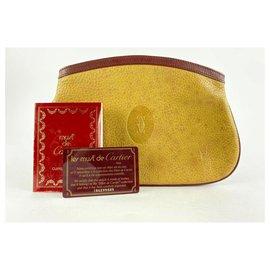 Cartier-Pochette en cuir beige 4Cts127-Autre