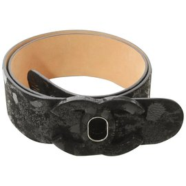 Chanel-09A Turnlock CC Black Belt-Other