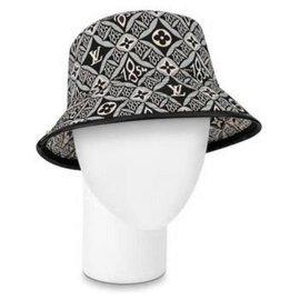 Louis Vuitton-21W Since 1854 Black Monogram Bucket Hat Fisherman Cap Medium MB861051-Other