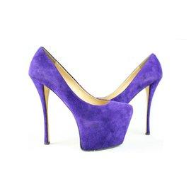Giuseppe Zanotti-Suede Platform Purple Denny Sky High Lisa 36gza3917-Other