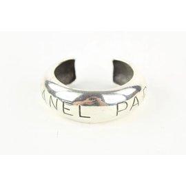 Chanel-96p Paris Silver Tone Bangle Bracelet Cuff-Other