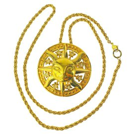 Dior-Ensemble de broche collier lune en cristal et or 10DIOR22-Autre
