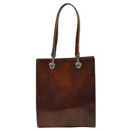 Cartier-Cabas en cuir verni marron Havana-Autre