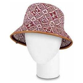 Louis Vuitton-21FW Since 1864 Red Burgundy Monogram Bucket Hat Cap Fisherman-Other
