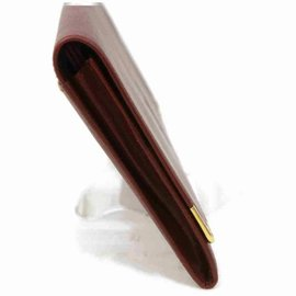 Cartier-Pochette à rabat en cuir bordeaux bordeaux-Autre