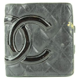 Chanel-Black Quilted Cambon Ligne Compact Wallet 3C11117-Other