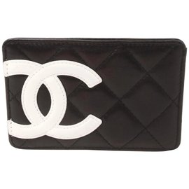 Chanel-Black Quilted Leather Cambon Ligne Card Holder-Other